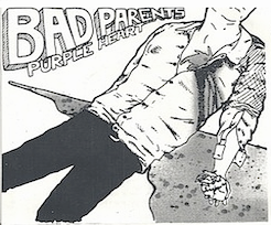"Bad Parents- Purple Heart 7"" Regular Cover"